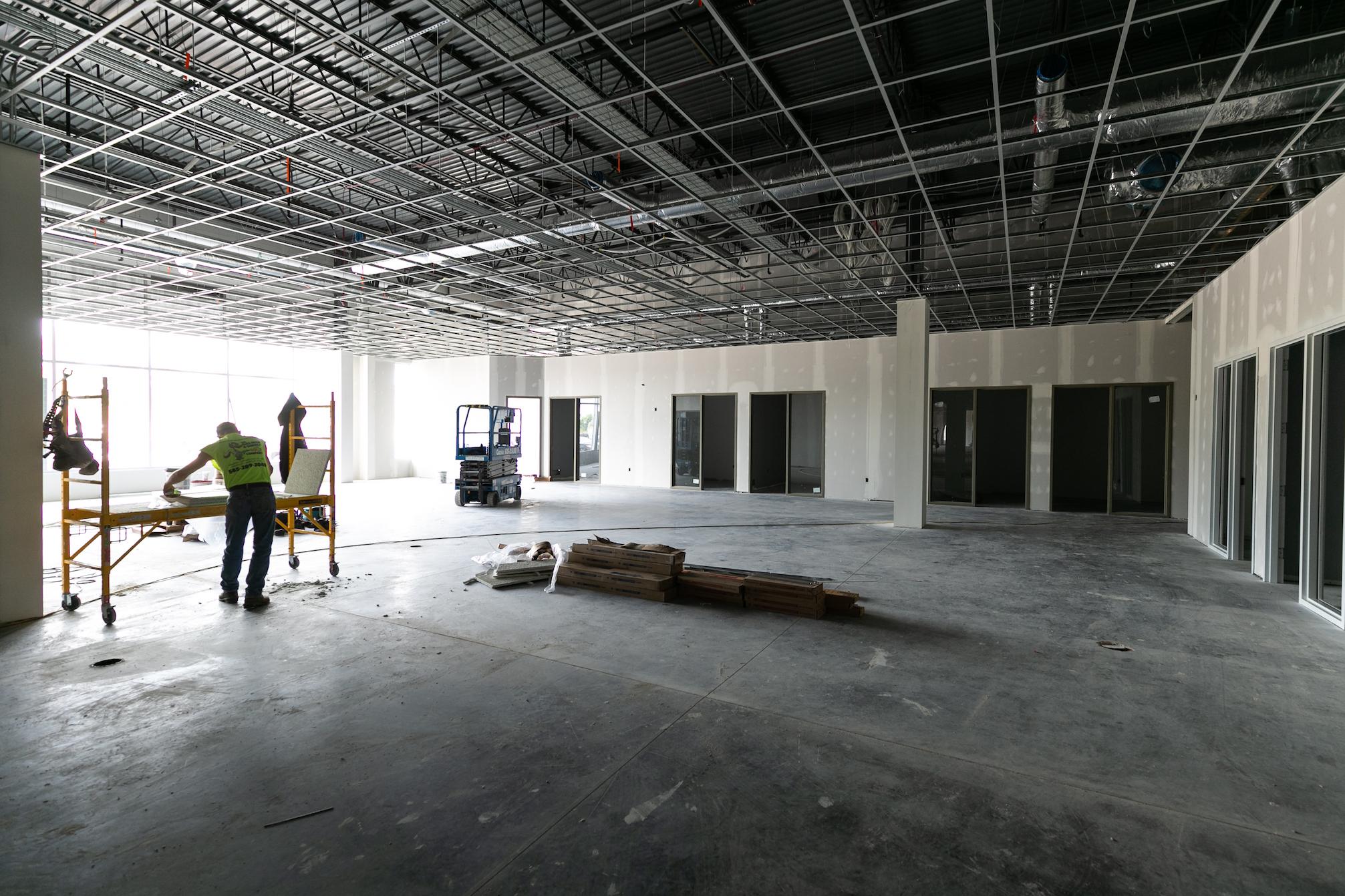 Interior development in progress at IDEX.